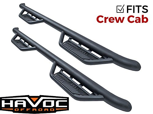 Havoc HS2 Black Hoop Nerf Bars Truck Steps (fits Only) 2015-2018 Dodge Ram Crew Cab