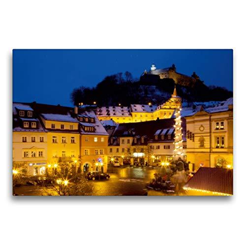 Premium Textil-Leinwand 75 x 50 cm Quer-Format Kulmbach im Advent | Wandbild, HD-Bild auf Keilrahmen, Fertigbild auf hochwertigem Vlies, Leinwanddruck von Karin Dietzel