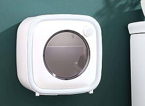 Toiletrolhouder, toiletrolhouder, zelfklevend waterdicht, wandmontage, badkamer keukenpapierhouder-grijs