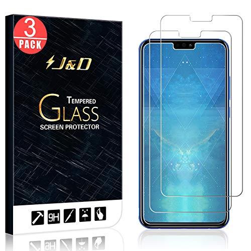 J&D Compatible para 3-Pack Huawei Honor 8X Protector de Pantalla, [Vidrio Templado] [NO Cobertura Completa] Cristal Templado Protector de Pantalla para Huawei Honor 8X