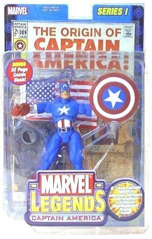 Marvel Series 1 the Original Captain America Marvel Legends with Bonus 32 Page Comic Book