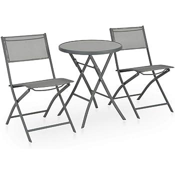 Balkonmöbel Sitzgarnitur klappbar Gartenmöbel Set 3er Sitzgruppe Poly Rattan