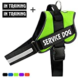 voopet No-Pull Dog Harness, Reflective Adjustable Dog Training Vest with Handle - Outdoor Pet Vest Harness for Small Medium and Large Dogs
