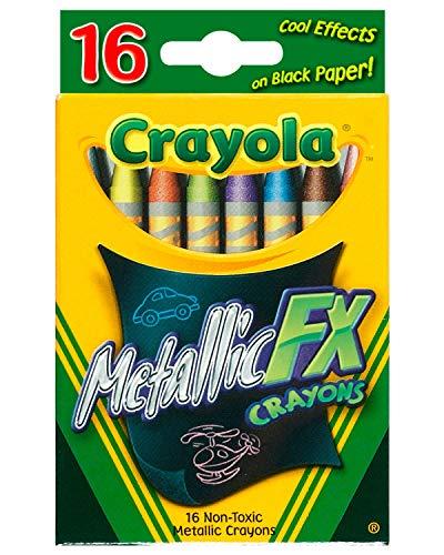 Crayola Metallic FX Crayons 16 Pack 52-8816 (3-Pack)