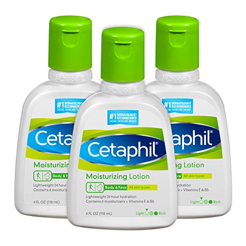 Cetaphil Moisturizing Lotion Instant & Long Lasting for All Skin Types, Fragrance Free, 16 Fl Oz