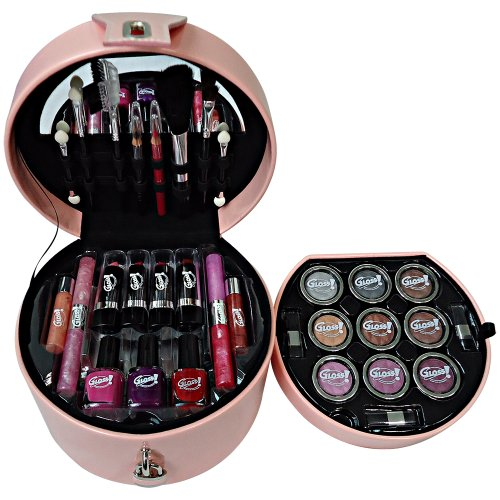 Gloss! Mallette de Maquillage 35 Pièces 8 g Glam's Rose, Coffret Cadeau-Coffret Maquillage