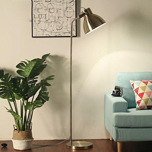 ZIXUANJIAXL Stehende Stehlampen Stehlampe Stoff Eisen 39 * 165cm Nordic Wohnzimmer Study Lese Schlafzimmer Einfacher moderner Vertikal Stehleuchte (Color : Brass)