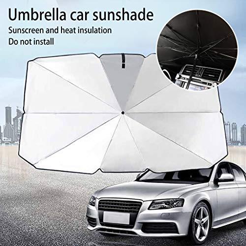 LIEIKIC Sonnenschutz Auto Dehnbar Frontscheibe Folie UV Schutz Faltbare Universal Windschutzscheiben Sonnenblende Front Window Sunshade Covers Car (65 * 125CM)