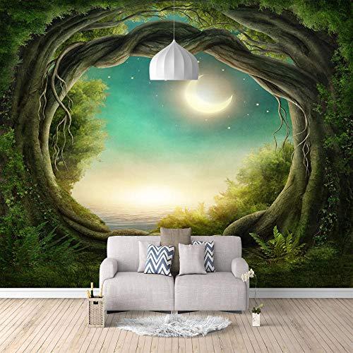 Murales Papel Pintado,Agujero del árbol del bosque de ensueño Tv Telón de Fondo Pared decorativos Murales Moderna Foto mural foto-mural foto póster deco pared -430x300cm