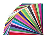 Tissue Paper Gift Wrap - Bulk Wrapping 100 200 300 or 500 Sheets 15 x 20 Assorted Black Blue Fuchsia Gold Green Orange Pink Purple Silver White Yellow