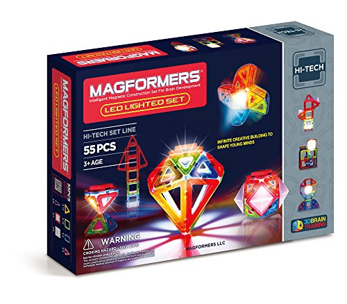 Magformers Hi-Tech LED Lighted Set (55-pieces)