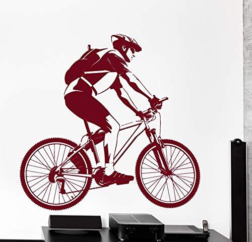 Tianpengyuanshuai vinyl sticker racing bike sport decoratieve muursticker kinderkamer muursticker