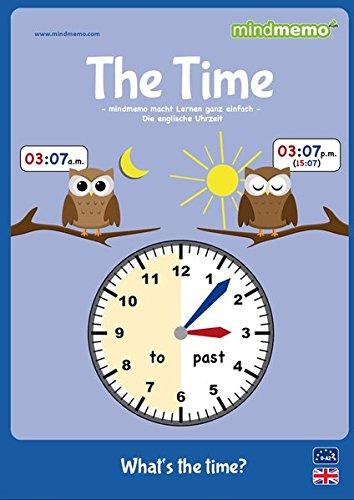 mindmemo Lernfolder - TIME - Englisch lernen Uhrzeit für Kinder Uhr lernen learning clock for kids Lernhilfe Zusammenfassung PremiumEdition foliert - DIN A4 6 Seiten plus Abhefter