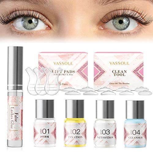 VASSOUL Eyelash Perm Kit, Professional Eyelash Lash Extensions, Lash Lifts, Lash Curling, Semi-Permanent Curling Perming Wave Suitable For Salon