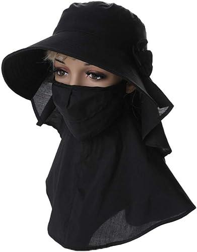 Warmth Supplies Extérieur Cou Facial Solaire Prougeection UV Chapeau de Soleil Masque Pliable MesLes dames visière équitation Chapeau de Soleil