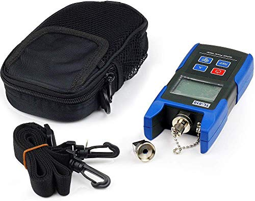J-deal TL510C FTTH Handheld Optical Power Meter Red Light Visual Fault Locator Sc + Fc Connector Fiber Optic Cable Tester Checker Test Tool(15.5~18.6 Miles) for CATV CCTV