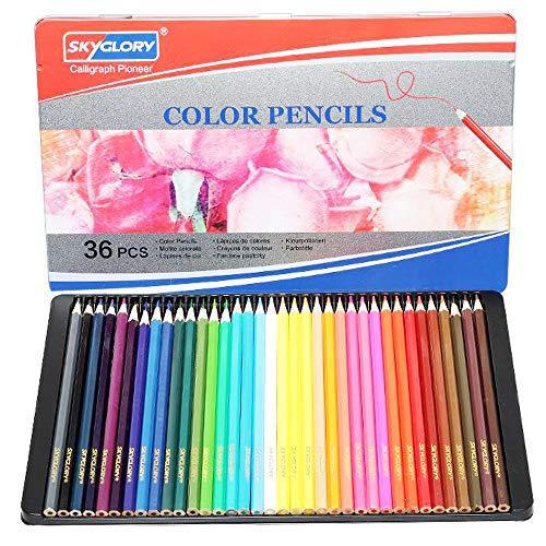 LIAKI 色鉛筆 36色セット カラーペン アート色鉛筆セット メタルケース 油性鉛筆 子供と大人の塗り絵やプレゼント用にも最適 入学お祝い プレゼント