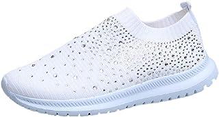 AONEGOLD Chaussures de Sport Course Femme Basket Léger et Respirantes Mesh Sneakers Entraînement Fitness Tennis