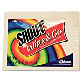 Shout Wipe & Go Instant Stain Remover, 4.7 x 5.9 - Includes one box of 80. by Shout