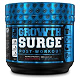 Growth Surge Post Workout Muscle Builder with Creatine, Betaine, L-Carnitine L-Tartrate - Daily Muscle Building & Recovery Supplement - 30 Servings, Black Cherry Flavor