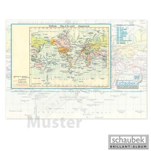 Schaubek Briefmarkengeographie Schreibtischunterlage Deutschland L02