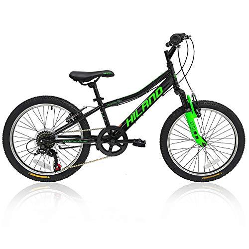 Hiland 20 Inch Kids Bike Mountain Bicycle for Boys Girls Black