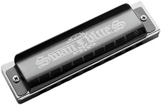 Armónica CXZA de 10 agujeros C para armónica de principiante, se puede utilizar como regalo, armónica de nivel de rendimiento profesional (negro), negro