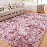 GLITZFAS Shaggy alfombras de Pelo Largo alfombras Salon alfombras de habitacion moquetas Sala de Estar para Habitación (Rosa púrpura,160 * 200cm)
