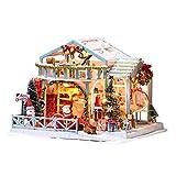 Desconocido Generic 3D Navidad Navidad DIY Kit de Casa de Muñecas de Madera en...