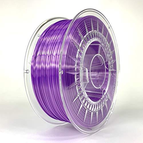 Devil Design SILK Violet, 1.75mm, 1kg of high gloss filament made in Europe