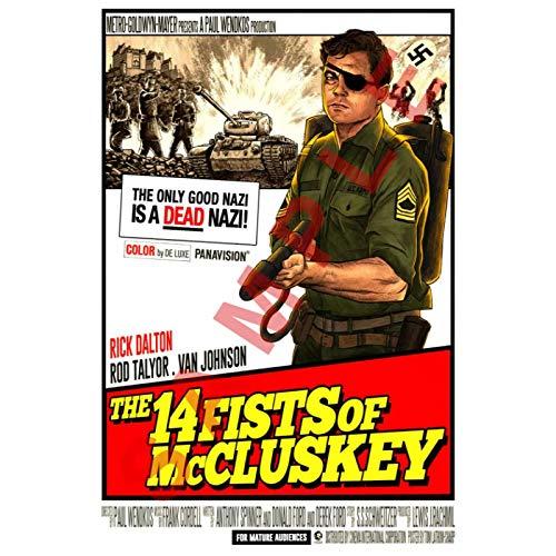DrCor C'era Una Volta Dentro Hollywood Poster e Stampe di Film su Tela Pittura murale per Soggiorno Decorazione Domestica -50x70 cm Senza Cornice 1Pz