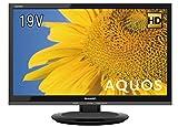 シャープ 液晶 テレビ ハイビジョン 外付HDD対応(裏番組録画) AQUOS ブラック 19V型 2T-C19ADB