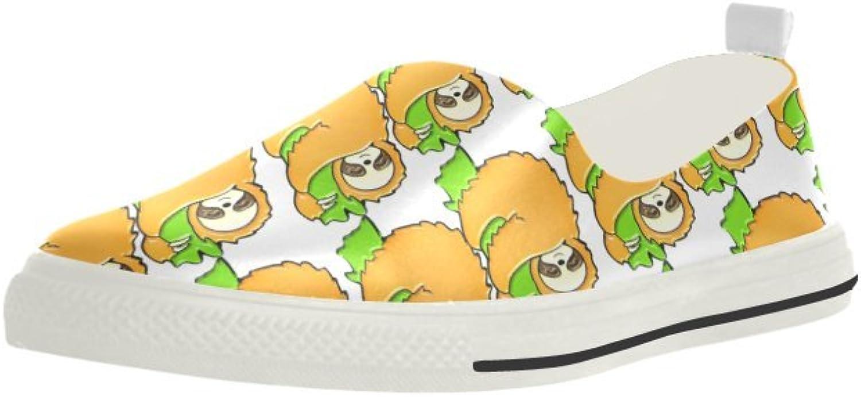 HUANGAISY Loafer Söta Sloths Slip Slip Slip -on Microbiber Mans skor  snabb frakt över hela världen