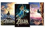 Pyramid America Set of 3 Legend of Zelda Breath of Wild Fan Collection Poster Set Bundle 24x36 inch