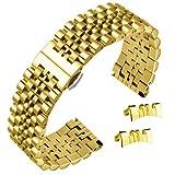 22 millimetri in acciaio inox solido bracciali orologio bracciale in oro curve e dritte stile giubileo