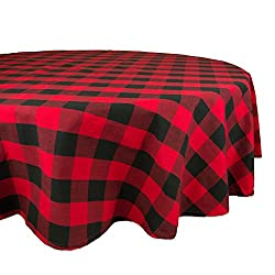 buffalo plaid christmas decor tablecloth