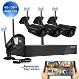 [2020 update] Security Camera System Wireless JOOAN 4-Channel HD 1080P NVR with 4Pcs