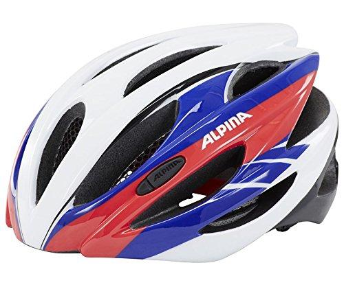 ALPINA Radhelm Cybric, White-Blue-Red, 53-57