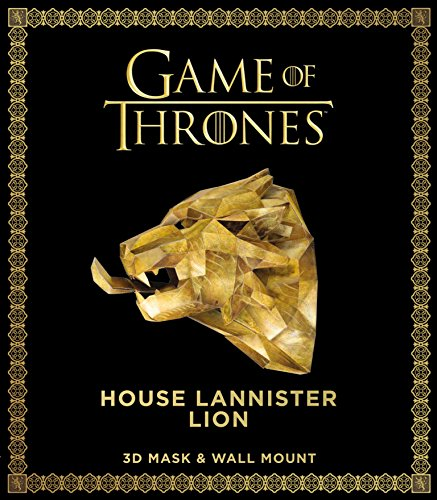 Game of Thrones Mask: House Lannister Lion (3D Mask & Wall Mount)