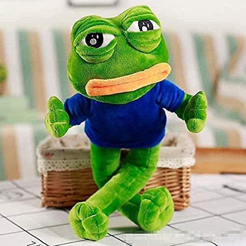 SongJX-Love Juguetes de Peluche Animado Triste de la Rana de Juguete de Felpa Siente muñeca de la Felpa de Cosplay Animal Lindo Pepe Pin Almohada for Suministros Party Kids 45cm Regalo Gzzxw