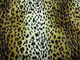 Leopard hell Fell Stoff Kunstfell Meterware Tierfell