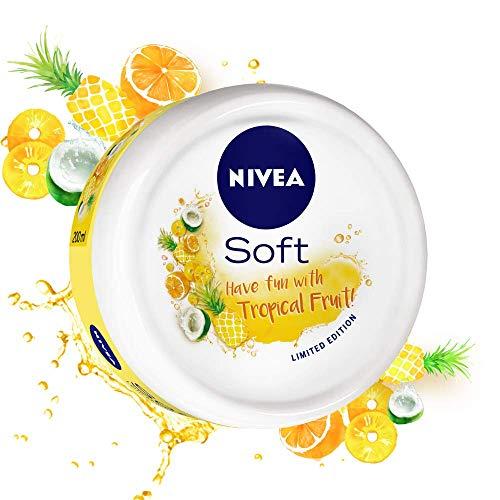NIVEA Soft, Light Moisturising Cream, Tropical Fruit, 50ml