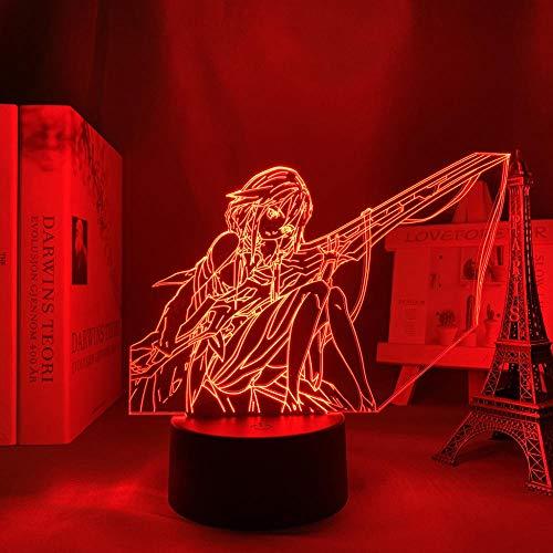 XCDH - Lámpara de noche con ilusión LED en 3D, diseño de Guilty Crown Inori Yuzuriha
