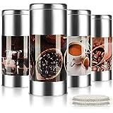 com-four® 4X Paddies de café para la máquina de café - Caja Decorativa - contenedor de Almacenamiento para monodosis de café (4 Piezas - Juego 2)