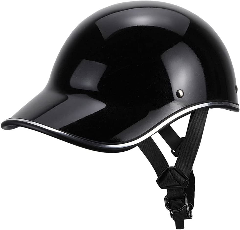RENTOOR Motorcycle Half Helmet El Paso Mall Cruiser Baseball Cap Moped Retro Max 86% OFF