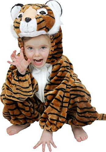 Aptafêtes - CS850055/104 - Costume de Tigre Peluche - Toon pour Enfant Taille 116 cm - 4/5 Ans