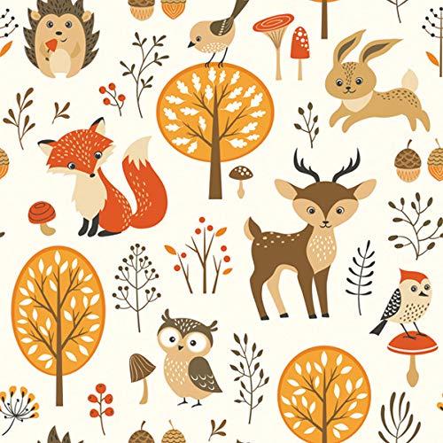 20 Servietten Lustige Tiere aus dem Wald | Fuchs | Hase | Reh | Kinder | Herbst 33x33cm