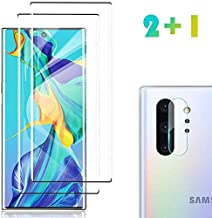 [2 Pack] Galaxy Note 10 Plus Screen Protector Tempered Glass Include a Camera Lens Protector,Glass Screen Protector with 3D Curved HD Clear Full Coverage for Samsung Galaxy Note10 Plus