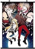 アニメ漫画のキャラクターポスター布壁スクロールポスターぶら下げ絵画家の装飾アニメ-殺戮の天使40x60cm