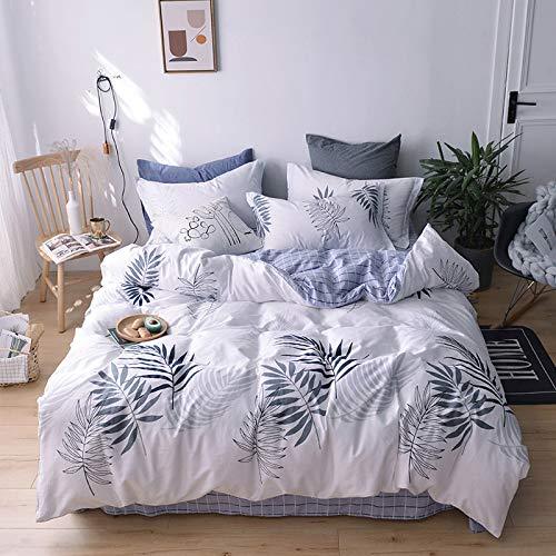 BFMBCH neues Zuhause Schlafzimmer Hotel Apartment Zimmer vierteilige Bettwäsche einfache Baumwolle Twill L1 160cmx210cm